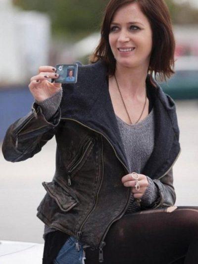 Arthur Newman Mike (Charlotte Fitzgerald) Hood Leather Jacket