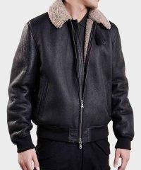 mens-aviator-black-bomber-leather-jacket