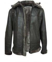 black-leather-mens-aviator-flight-fur-shearling-b3-hooded-jacket