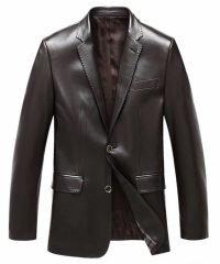 Mens Brandon Leather Blazer Jacket