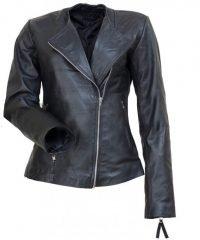 Michelle Marie Pfeiffer Black Biker Leather Jacket