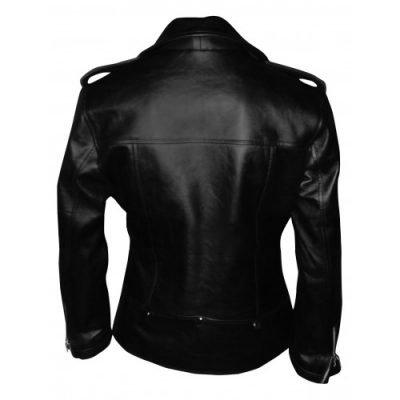 Mariah Carey Black Motorcycle Leather Jacket
