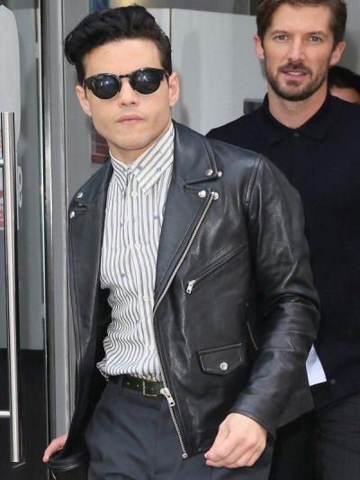 Rami Malek Bohemian Rhapsody Black Leather Jacket