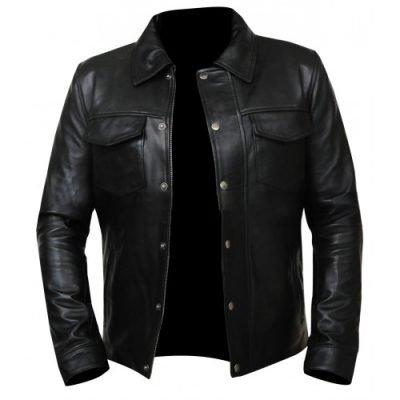 Mens Adam Lambert Singer Black Leather Jacket