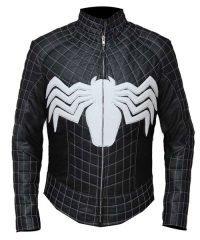Homecoming Venom Spider Man Black Leather Jacket