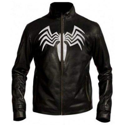 Eddie Brock Spider Man 3 Venom Costume Black Leather Jacket