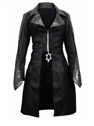 Killer Frost Flash Season 3 Caitlin Snow Black Leather Coat