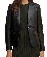 Leigh Classic Genuine Leather Blazer