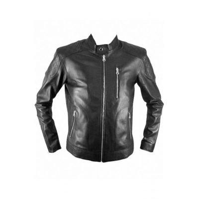 Genuine Retro Jacket Mens Biker Leather Jacket