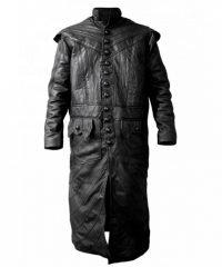 Black Sails Captain Flint Black Trench Long Leather Coat