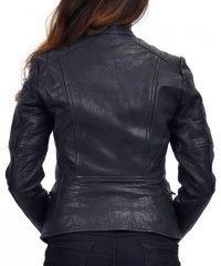 Dusty Women's Biker Jacket Dyed Lamb Leather