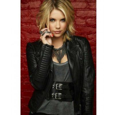 Pretty Little Hanna Marin Liars Ashley Benson Biker Leather Jacket