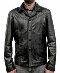 Killing Them Softly Brad Pitt (Jackie Cogan) Black Leather Jacket