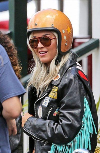 Katy Perry Harleys Hawaii Fringe Biker Jacket