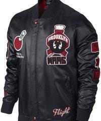 Marvin The Martian Air Jordan Black Bomber Leather Jacket