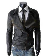 Biker Slim-Fit Multi Pocket Leather Jackets