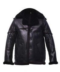 mens-black-shearling-bomber-leather-jacket