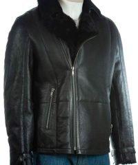 mens-shearling-sheepskin-black-jacket