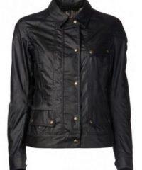 Lyla Michaels Arrow Black Waxed Leather Jacket