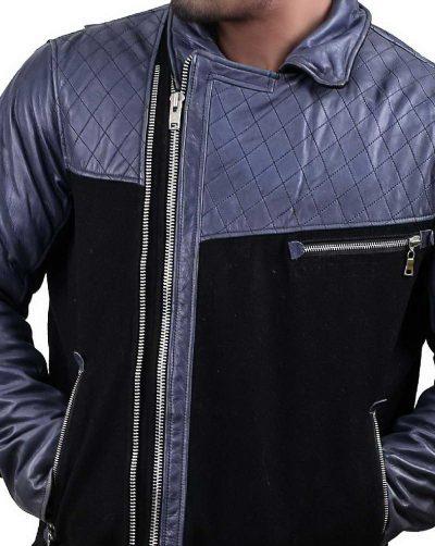 Multicolor Mens Biker Leather Jacket