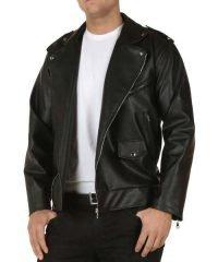 Grease T Birds Black Biker Leather Jacket