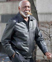 Shaft Richard Roundtree Black Leather Jacket