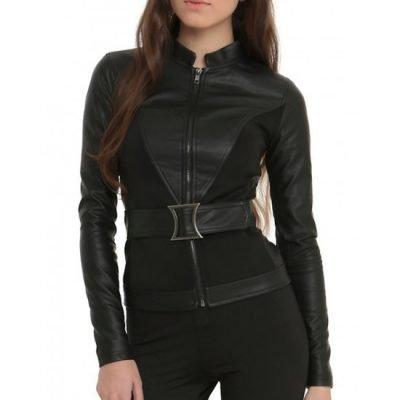 The Avengers Black Widow Leather Jacket
