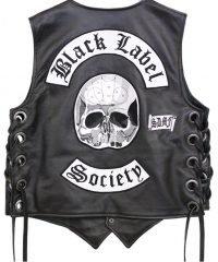 Black Label Society leather Vest