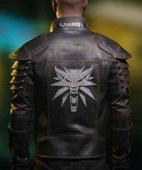 Cyberpunk 2077 Wolf School Black Leather Jacket