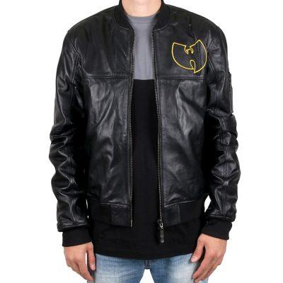 Wu Tang Black Leather Jacket