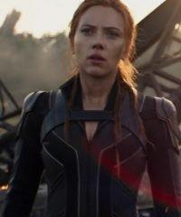 Black Widow 2021 Scarlett Johansson Leather Jacket