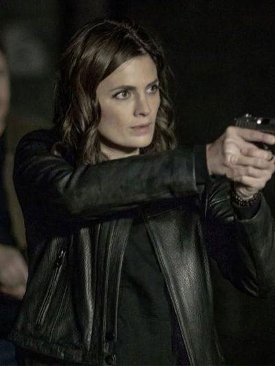 Absentia Stana Katic Black Leather Jacket