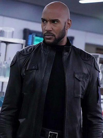 Agents of Shield Alphonso Mackenzie Black Leather Jacket