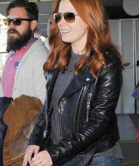 Amy Adams Black Leather Jacket