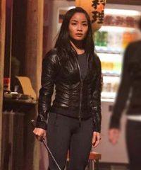 Anna Sawai F9 The Fast Saga Black Leather Jacket