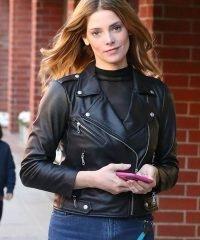 Ashley Greene Black Leather Jacket