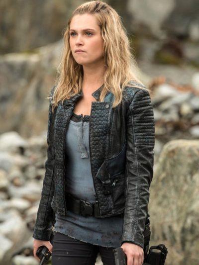 Eliza Taylor Black Leather Jacket