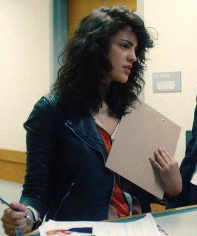 I Care a Lot Fran Eiza González Black Leather Jacket