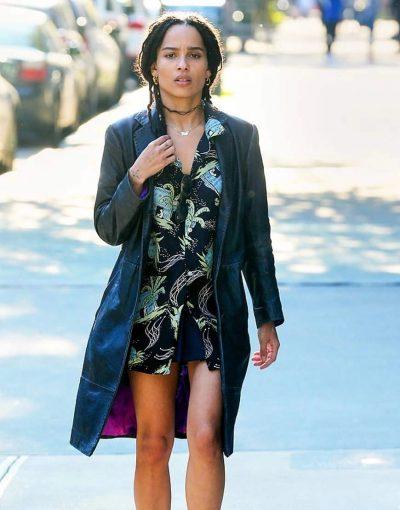 High Fidelity Zoe Kravitz Black Leather Coat
