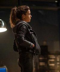 Laia Costa Devils Sofia Flores Black Leather Jacket