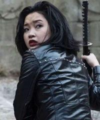 Lana Condor Deadly Class Black Leather Jacket