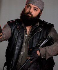 Carlos Aviles the Walking Dead Savior Guard Black Leather Vest