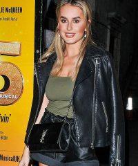 Amber Davies Savoy Theatre Black Biker Jacket
