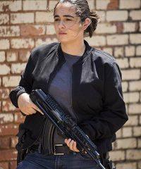 Alanna Masterson the Walking Dead Black Bomber Jacket