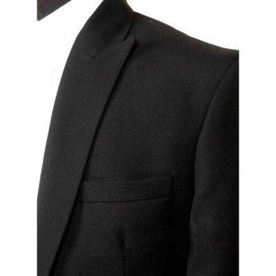 Casino Royale Peak Lapel Tuxedo Black Suit