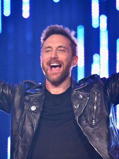 25th Mtv Europe Music Awards David Guetta Leather Jacket