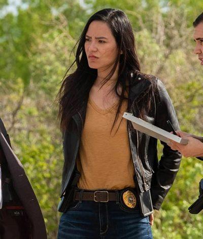 Jessica Matten Samantha Tribal Leather Jacket