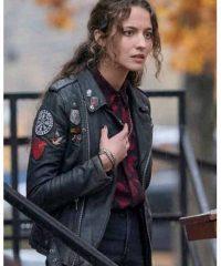The Republic of Sarah Black Leather Jacket