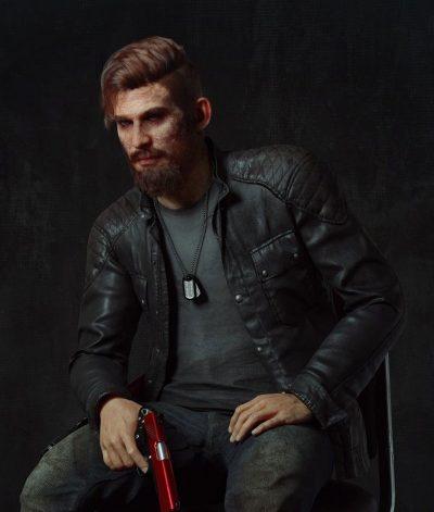 Jacob Seed Far Cry 5 Black Leather Jacket