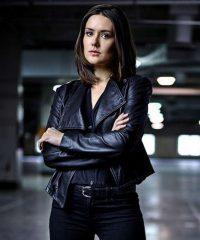 The Blacklist Elizabeth Keen Black Leather Jacket